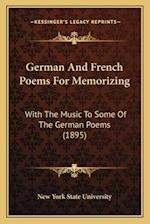 German and French Poems for Memorizing af New York State University