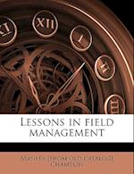 Lessons in Field Management af Manley Champlin