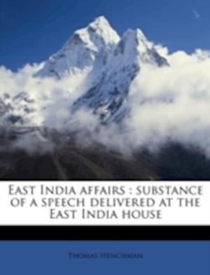 East India Affairs af Thomas Henchman