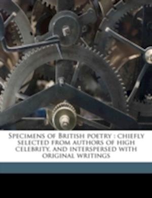 Specimens of British Poetry af Elizabeth Chalmers