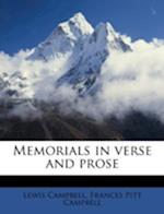Memorials in Verse and Prose af Lewis Campbell, Frances Pitt Campbell