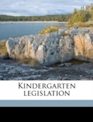 Kindergarten Legislation af Louise Schofield