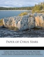 Paper of Cyrus Sears af Cyrus Sears