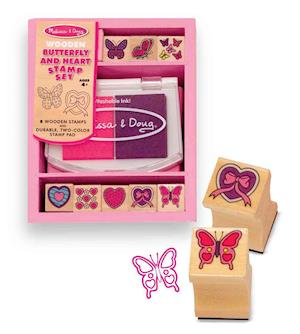 Butterfly and Hearts Stamp Set af Doug Llc