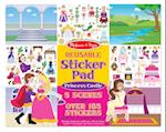 Reusable Sticker Pad - Princess Castle af Doug Llc