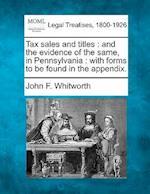 Tax Sales and Titles af John F. Whitworth