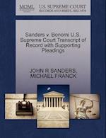 Sanders V. Bonomi U.S. Supreme Court Transcript of Record with Supporting Pleadings af Michael Franck, John R. Sanders