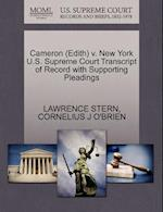 Cameron (Edith) V. New York U.S. Supreme Court Transcript of Record with Supporting Pleadings af Cornelius J. O'Brien, Lawrence Stern