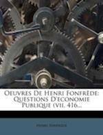 Oeuvres de Henri Fonfr de af Henri Fonfrede