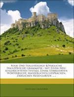 Neue Und Vollstandige Konigliche Franzosische Grammatik af Des Pepliers, Claude Buffier