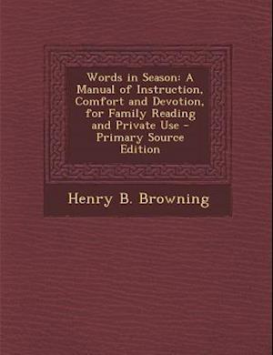 Words in Season af Henry B. Browning