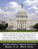 Finance and Economics Discussion Series af Mark Carey
