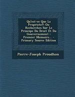 Qu'est-Ce Que La Propriete? af Pierre-Joseph Proudhon