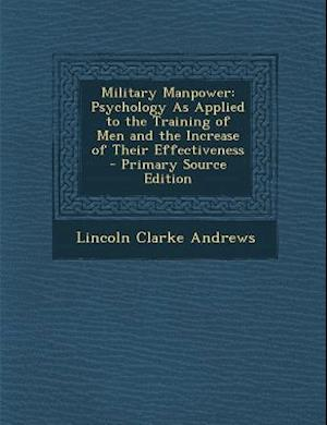 Military Manpower af Lincoln Clarke Andrews