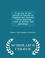 A Survey of the Scovils or Scovills in England and America af Homer Worthington Brainard
