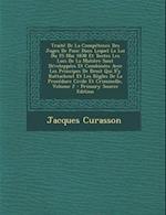 Traite de La Competence Des Juges de Paix af Jacques Curasson