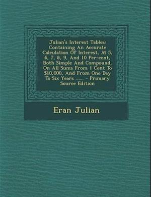 Julian's Interest Tables af Eran Julian