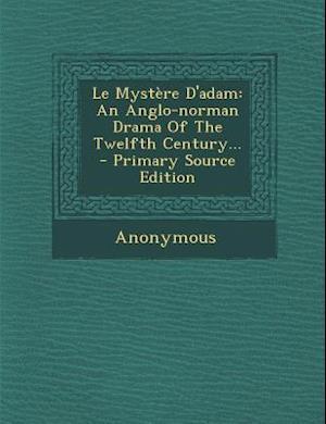 Le Mystere D'Adam af Anonymous