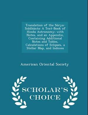 Translation of the Surya-Siddhanta af American Oriental Society