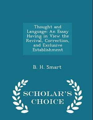 Thought and Language af B. H. Smart