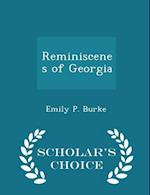 Reminiscenes of Georgia - Scholar's Choice Edition af Emily P. Burke