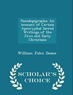 Pseudepigrapha af William John Deane