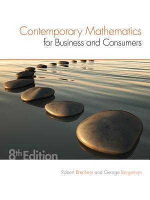 Contemporary Mathematics for Business & Consumers af Robert A. Brechner