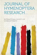 Journal of Hymenoptera Research... af International Society of Hymenopterists