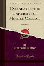Calendar of the University of McGill College