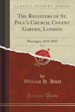 The Registers of St. Paul's Church, Covent Garden, London, Vol. 3