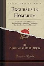 Excursus in Homerum