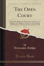 The Open Court, Vol. 40