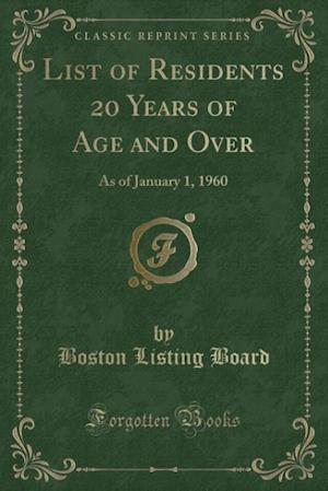 List of Residents 20 Years of Age and Over af Boston Listing Board