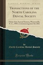 Transactions of the North Carolina Dental Society