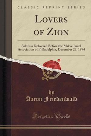 Bog, paperback Lovers of Zion af Aaron Friedenwald