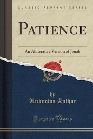 Bog, paperback Patience af Unknown Author