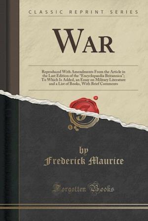 Bog, paperback War af Frederick Maurice