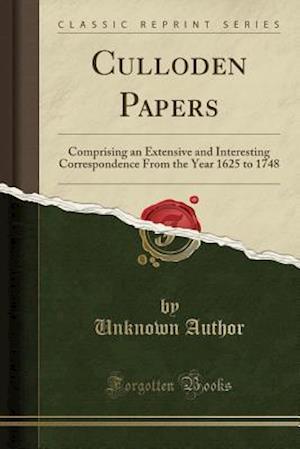 Bog, paperback Culloden Papers af Unknown Author