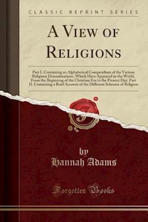 Bog, paperback A View of Religions af Hannah Adams