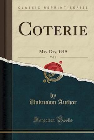 Bog, paperback Coterie, Vol. 1 af Unknown Author