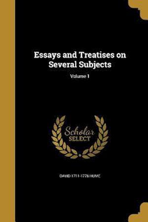 Bog, paperback Essays and Treatises on Several Subjects; Volume 1 af David 1711-1776 Hume