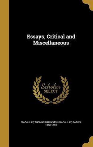 Bog, hardback Essays, Critical and Miscellaneous