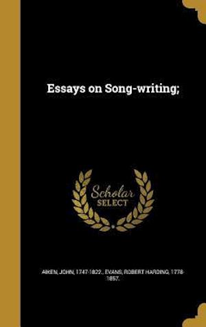 Bog, hardback Essays on Song-Writing;