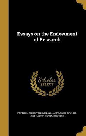 Essays on the Endowment of Research af James Sutherland 1847-1918 Cotton