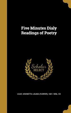 Bog, hardback Five Minutes Dialy Readings of Poetry