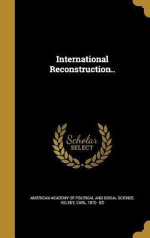 Bog, hardback International Reconstruction..