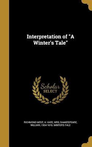 Bog, hardback Interpretation of a Winter's Tale