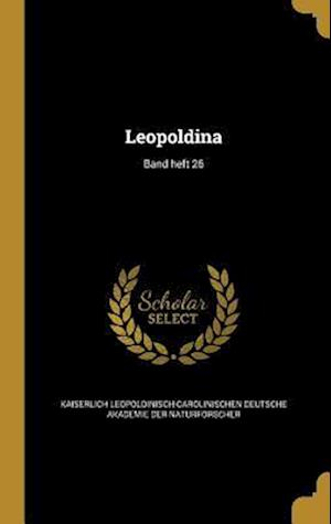 Bog, hardback Leopoldina; Band Heft 26