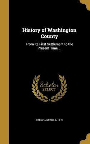 Bog, hardback History of Washington County