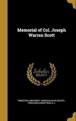 Bog, hardback Memorial of Col. Joseph Warren Scott